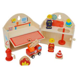 Nyitható tűzoltóállomás - tartozékokkal