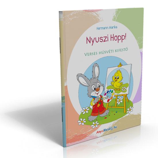 Nyuszi hopp! verses húsvéti kifestő