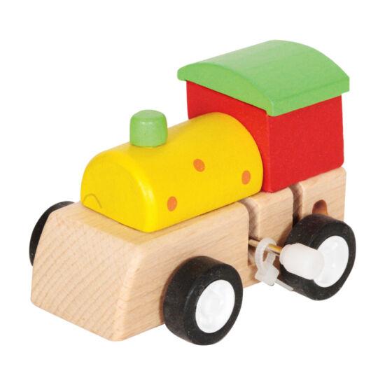 Felhúzható mozdony - zöld