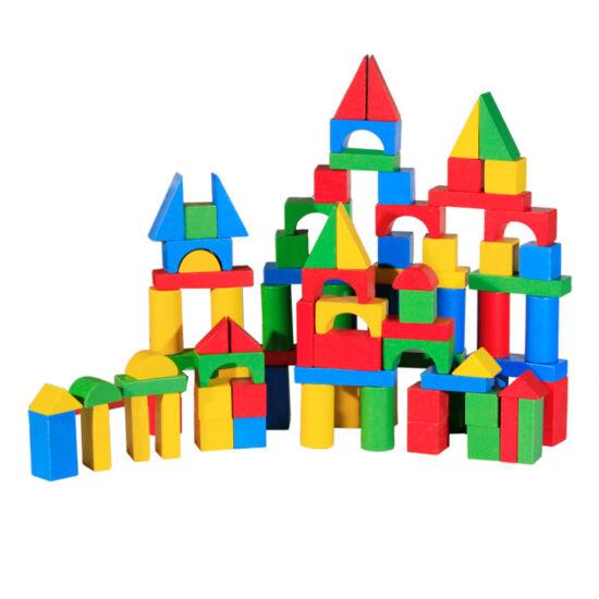 Építőkocka - 100 db-os, színes