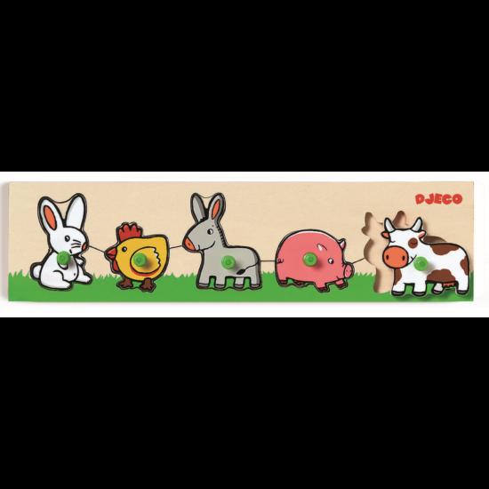 Formaillesztő játék - tanyasi állatok - DJECO