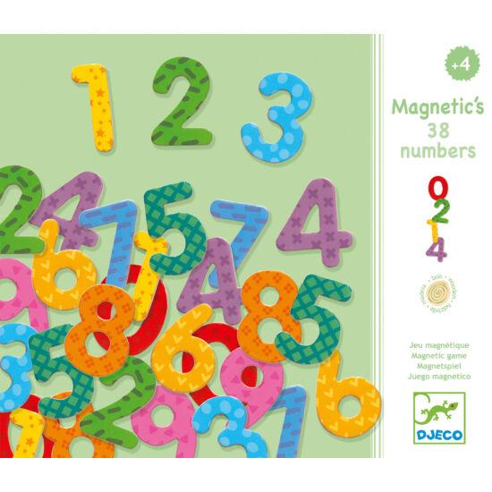 Mágneses számkészlet - Számok - 38 db-os - DJECO
